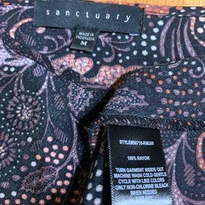 Sanctuary Tops - Sanctuary Floral Print Toe Neck Blouse Medium